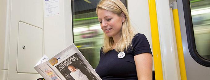 Значки за бременните в софийското метро