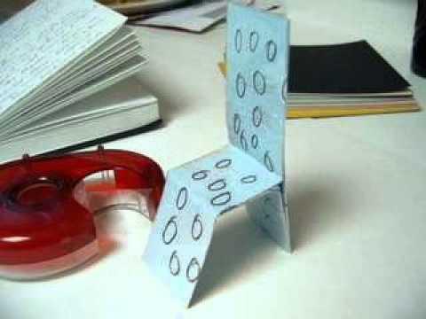 Стул из бумаги как сделать